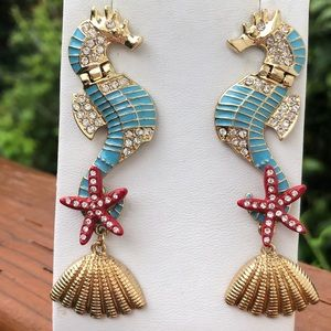 Betsey Johnson Jewelry - Betsey Johnson reticulated seahorse earrings nwot